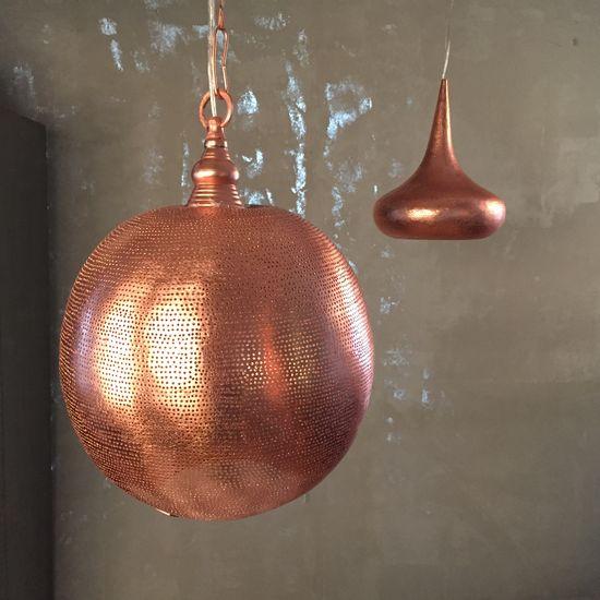 Lampa - Koppar Red Ball