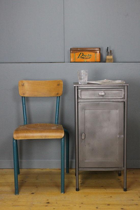 Vintage Nattduksbord Metall