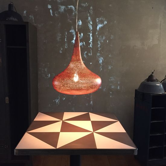 Lamp - Copper Red Drop