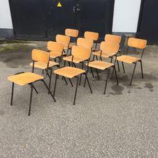 Vintage School Chair FR-Ebony