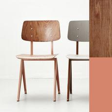 STEEL S16 Chair  Beige Red - Light Brown