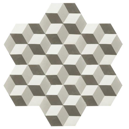 VN Hexagone Gris 09