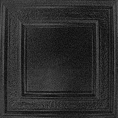 Panel - Black Textured Satin