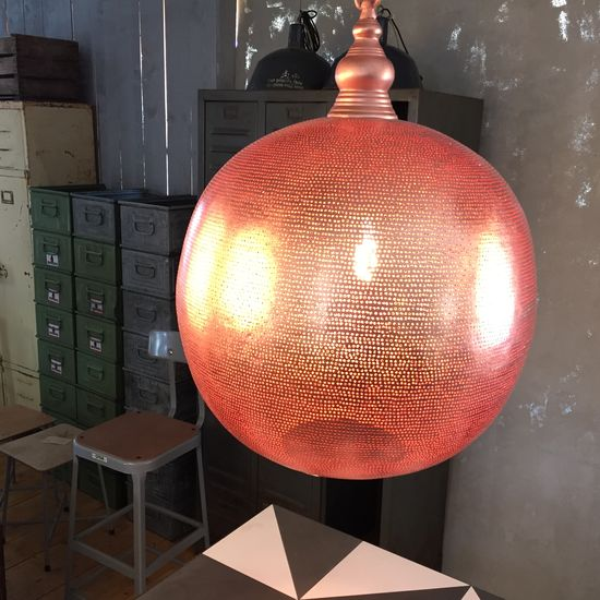 Lamp - Copper Red Ball Grande