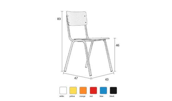 School Stol - White