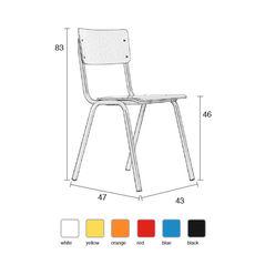 School Chair - White