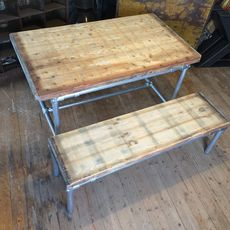 Large Pipe-frame Table 140 x  110 cm