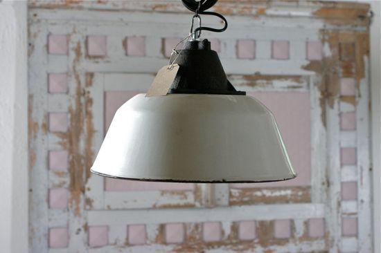 White Vintage Industrial Light