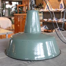 Green Industrial Light - Turqoise