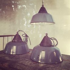 Blue Vintage Industrial Light  XL