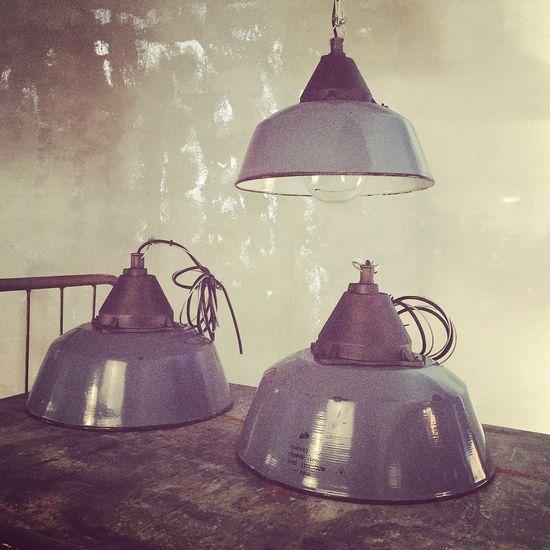 Original Industrilampa Blå XL