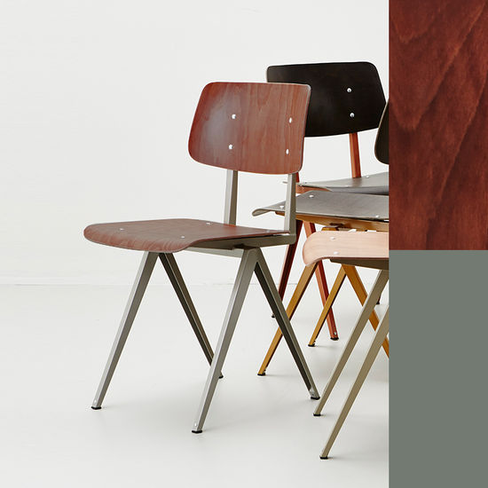 STEEL S16 Chair -Cement Grey - Brown