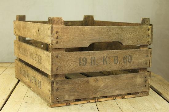 Vintage fruktlåda i trä med text - Hel Pall, 36 st.
