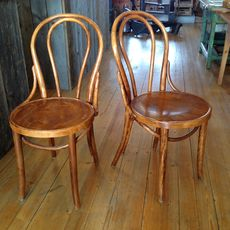 Old Cafechairs No 13  - Light Brown
