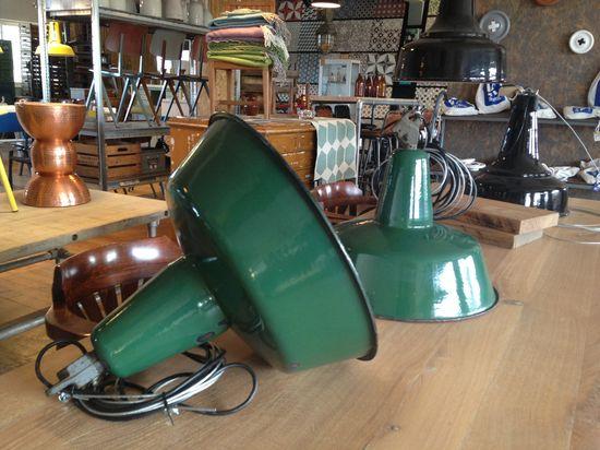 Original Industrilampa Grön